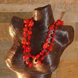 Collana corallo bambù