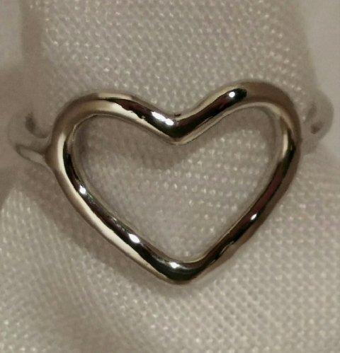 Anello cuore in argento
