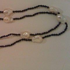 Collana onice nero perle d