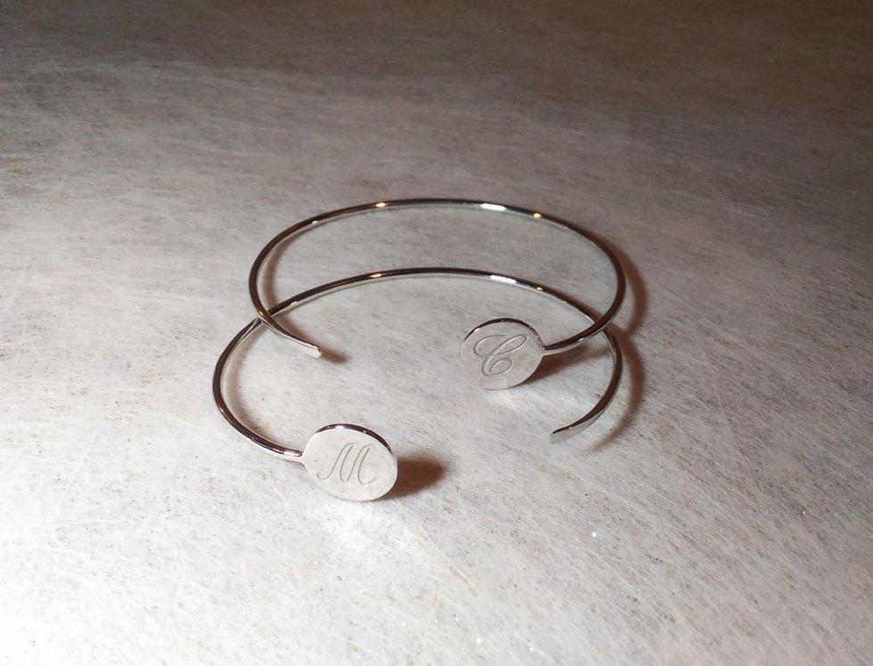 Bracciale con iniziali in argento