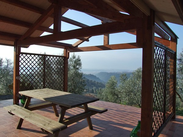 balcone con montagna