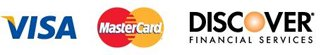 Payment options : Visa, Mastercard, and Discover