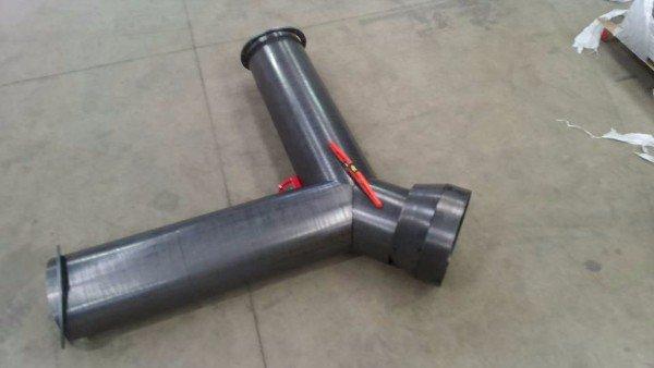 un tubo che si dirama in due parti