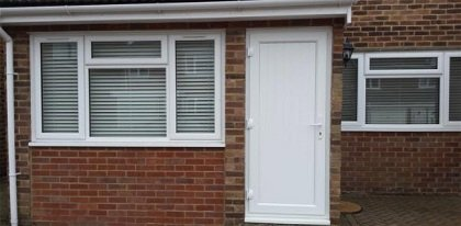Solid white door and window replacement