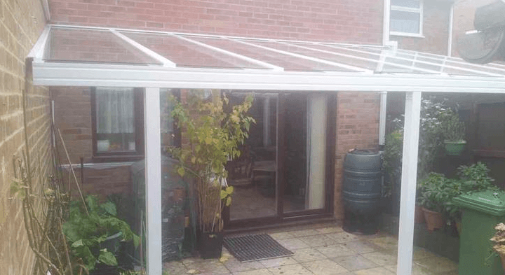 garden canopy with glass roof