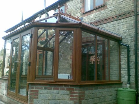 mahogany upvc conservatory