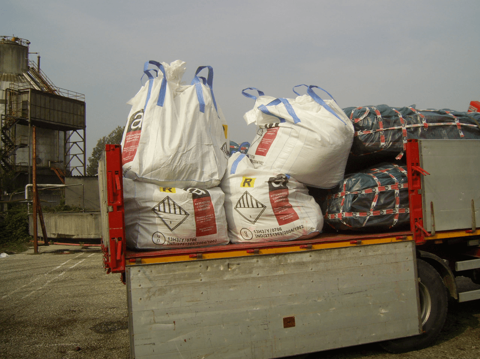 trasporto sacchi eternit