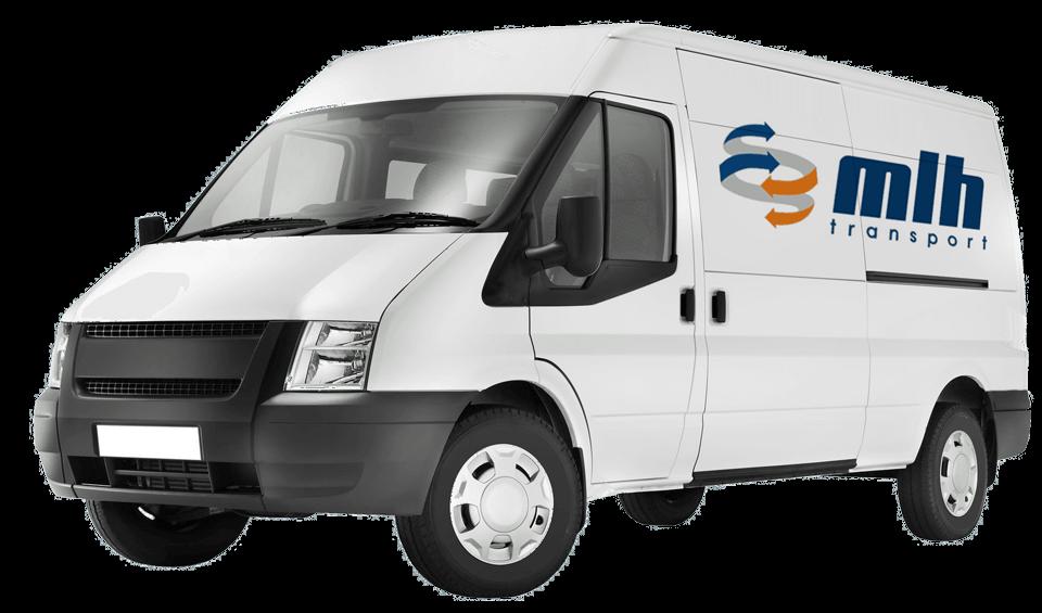 white van photo with mlh transport logo