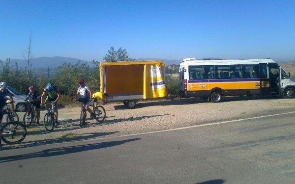 Escursioni con bus e carrello per bici