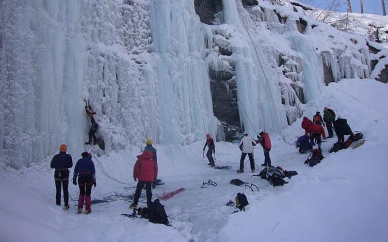 Cascate di ghiaccio Sappada