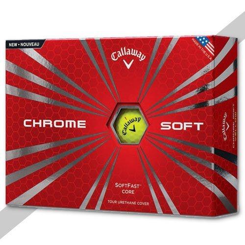 callaway chrome soft golf ball yellow