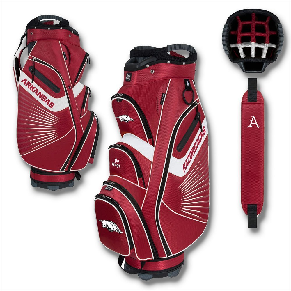 arkansas razorbacks golf cart bag