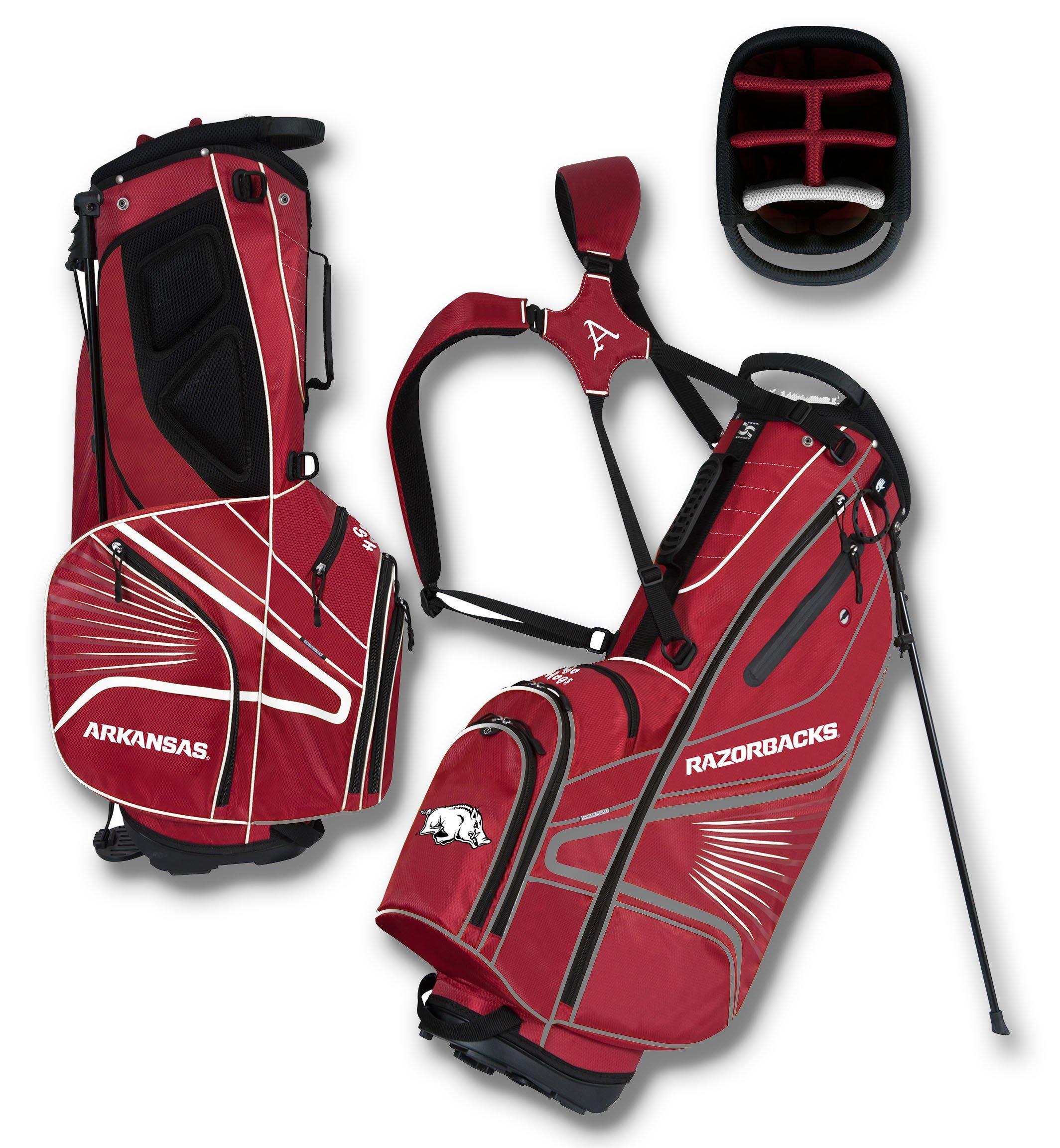 arkansas Razorbacks gridiron iii golf stand bag