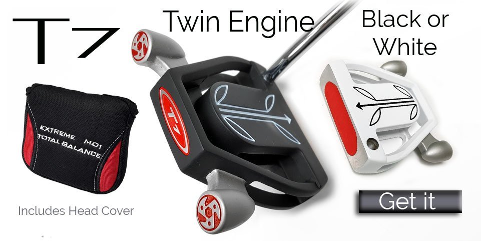 T7 twin engine putter, taylormade spider clone