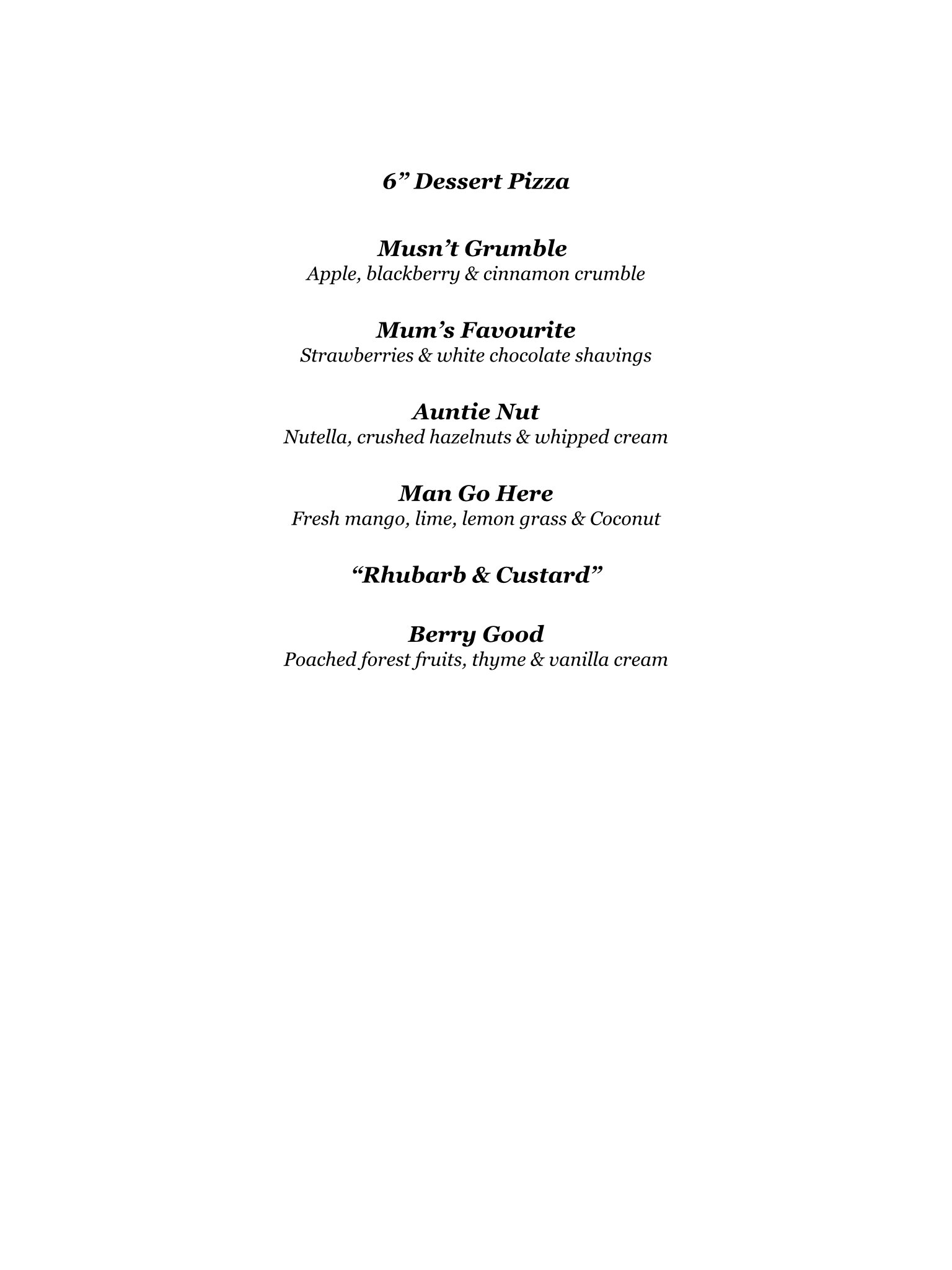 Delicious Catering Menu Old Dough Hook Pizza Co