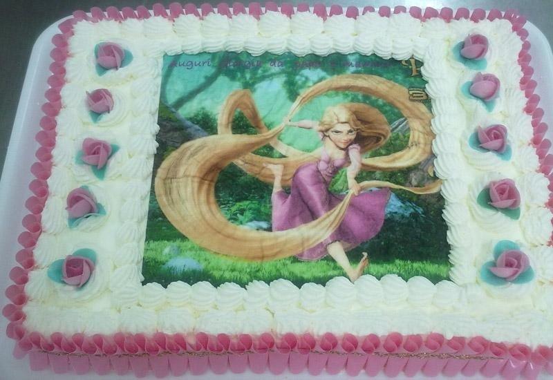 Torta con ostia di Rapunzel