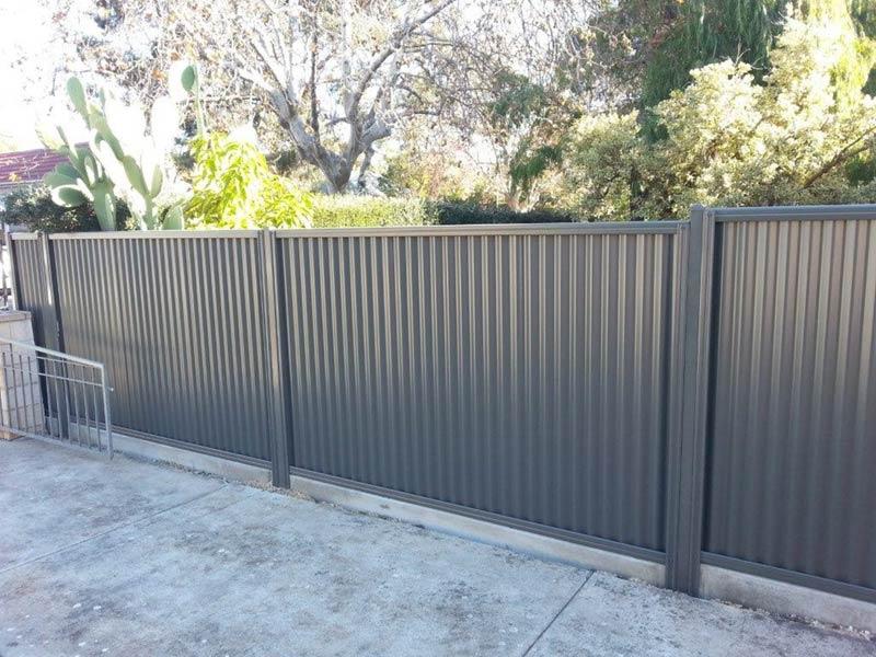 black fence by yard