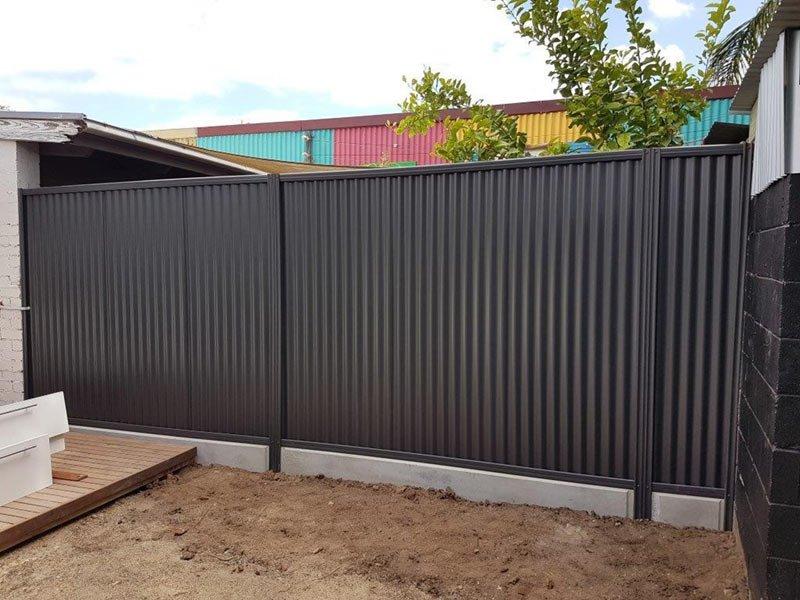 back fence in yard