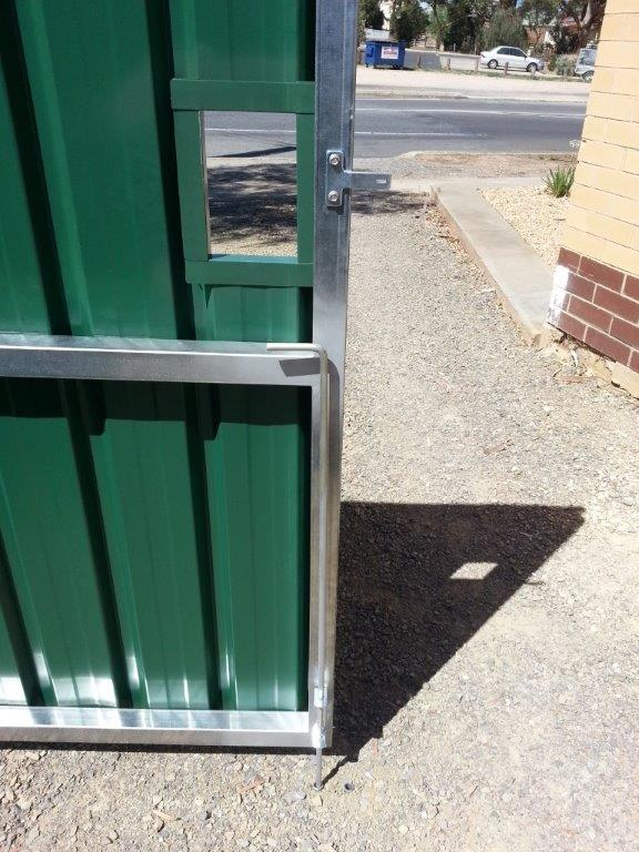 custom gates with double sided access
