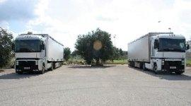 Spedizione pacchi, camion