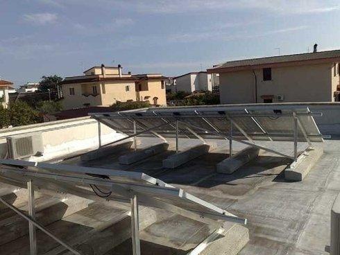 Impianto Fotovoltaico su tetto piano