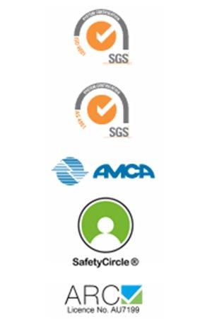 white partner logos