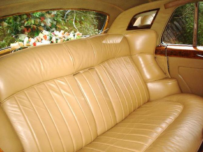 vintage car with comfortable seating