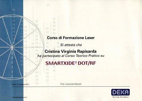 attestato di formazione laser