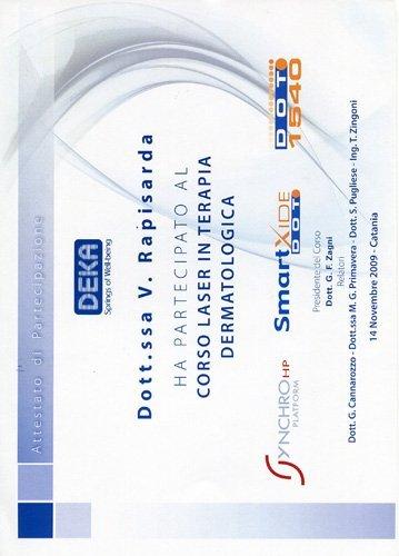 certificazione corso di formazione Virginia Cristina Rapisarda