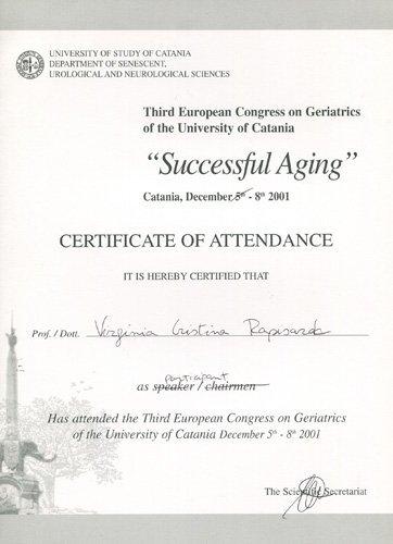 certificato di frequenza