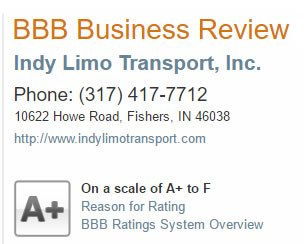 Indianapolis Airport Limousine Rating BBB