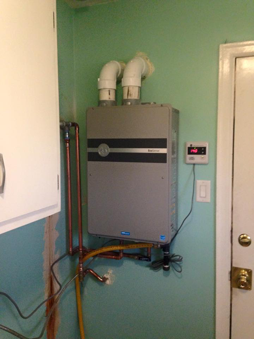 Electric tankless installed in Lexington, KY