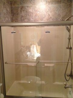 Installed shower door in Lexington, KY