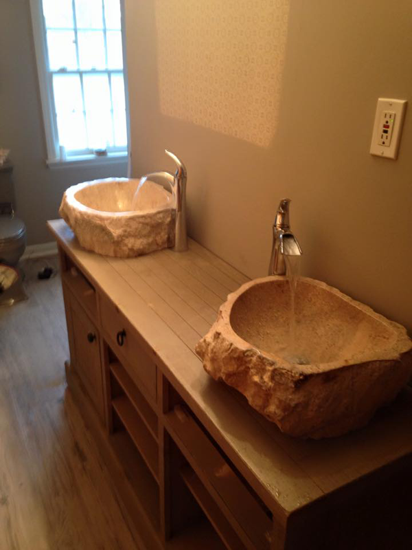 Installed vessel sink in Lexington, KY