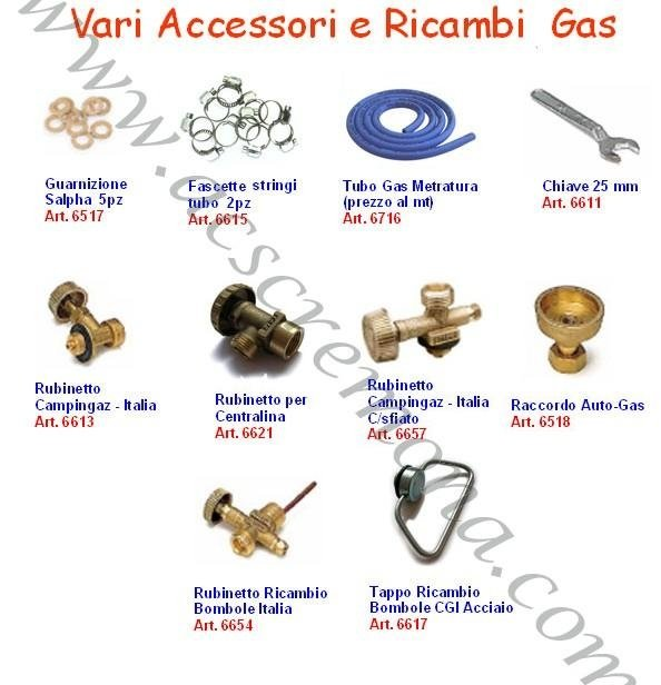 accessori e ricambi gas