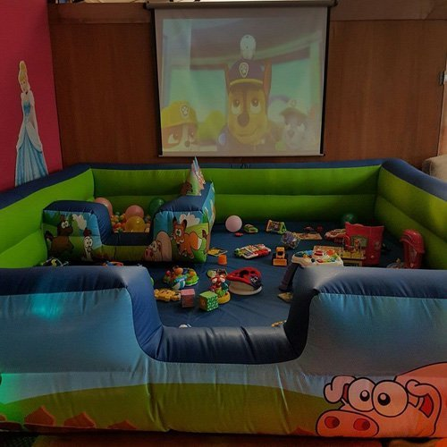View of a kids play room
