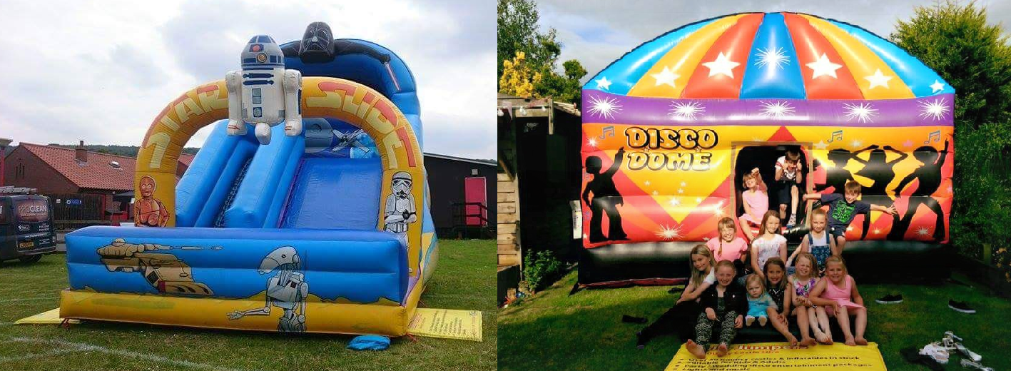 Themed bouncy castles for hire.