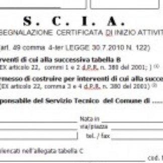 S.c.i.a., Segnalazione certificata di inizio attività