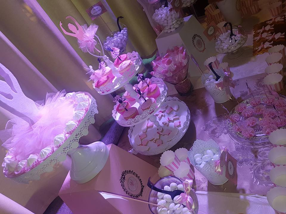 sweet table tema ballerina