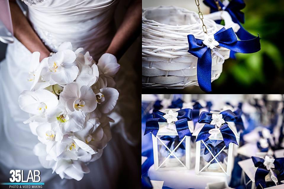 bomboniere abbinate a un abito sposa