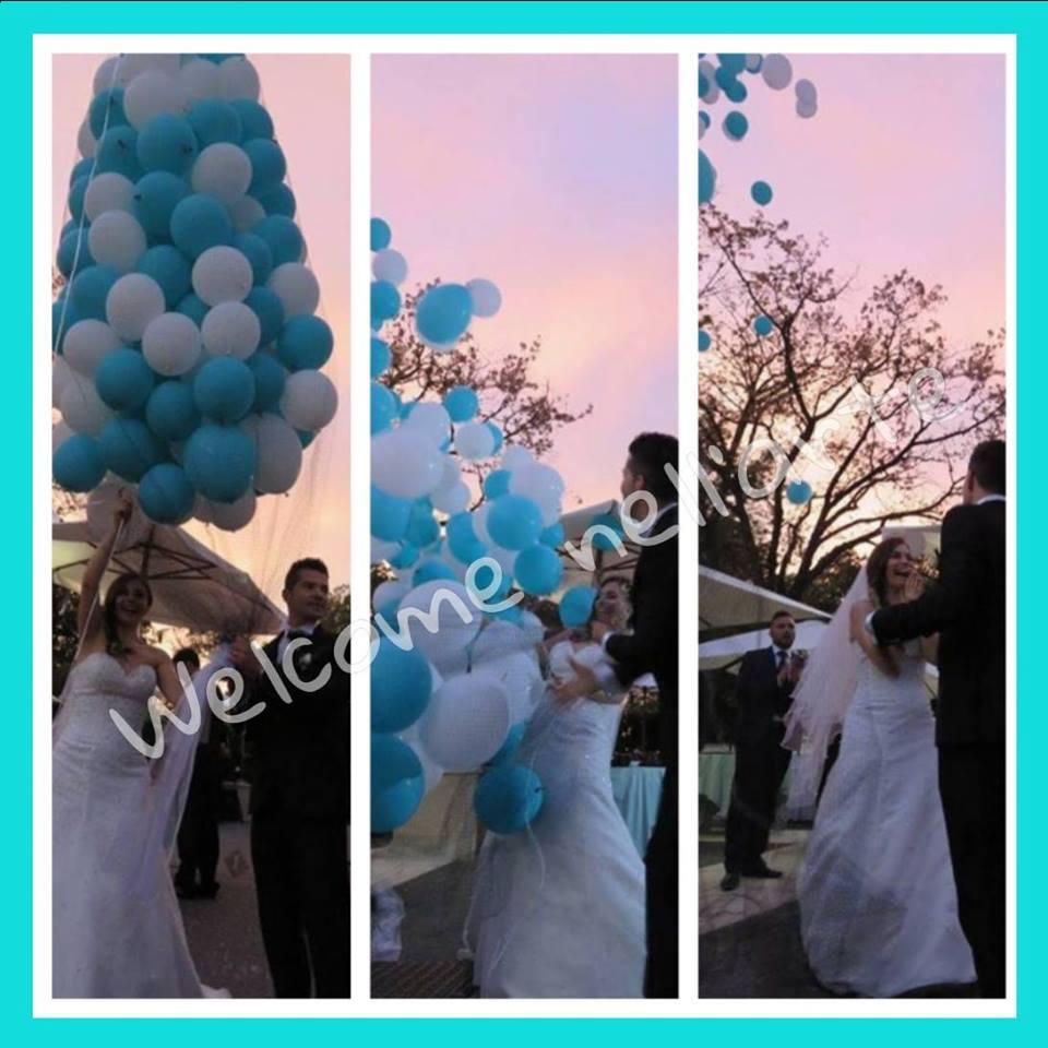 rilascio di palloncini matrimonio