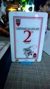 2° premio per campionato di Balloon Arts