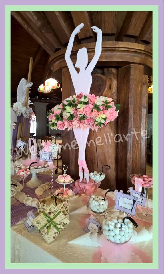 tavolo con assortimento confetti