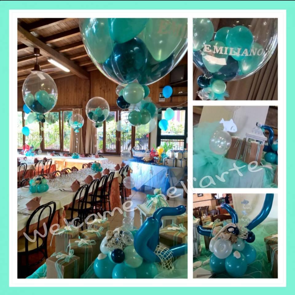 palloncini ripieni di palloncini per festa