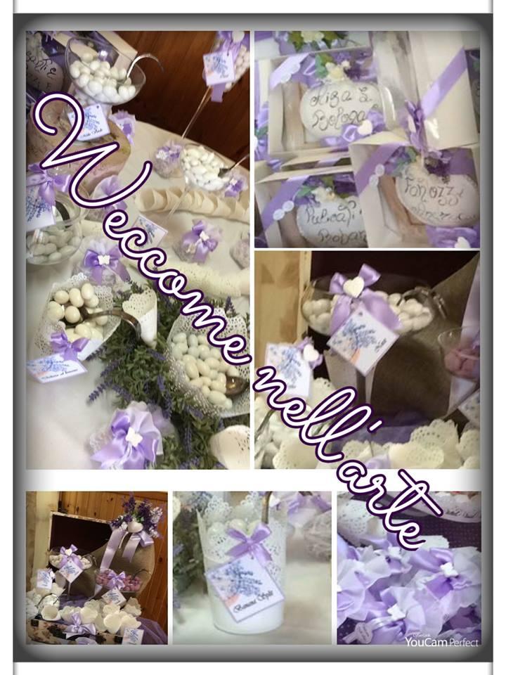 confetti di color violetto