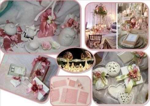 bomboniere e arredi per matrimonio rosa