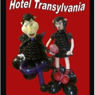personaggi del film Hotel Transylvania realizzati con palloncini
