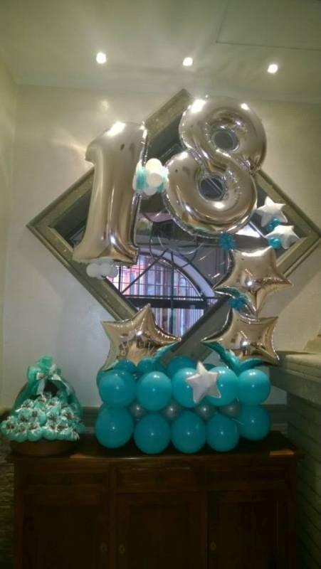 decorazione palloncini per festa di 18 anni