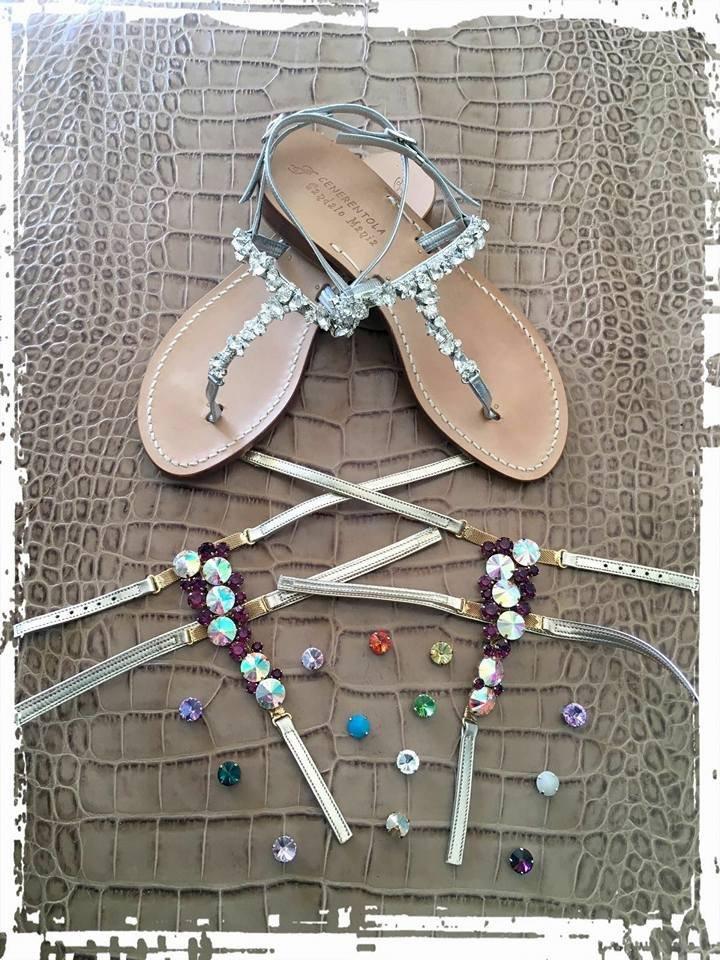 set di sandali e ricambi