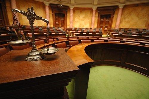 sala interna di un tribunale